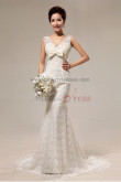 disassemble V-neck Lace beading Mermaid Chapel Train Shawl Wedding Dresses nw-0065