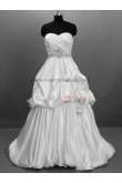 Zipper-Up Satin Off the Shoulder Informal Natural Tiered Sequined Floor-Length wedding dresses Tiered nw-0007