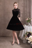 A-line Black Velvet Prom dresses Short dress NP-0413