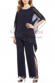 New arrival Black Asymmetrical Top and Pants suit dresses for Mother of the bride nmo-392