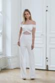 Glamorous Bateau Bridal Jumpsuit Summer Wedding dresses wps-130