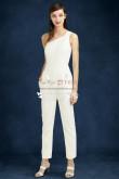 Beautiful One Shoulder Lace wedding jumpsuit wps-097