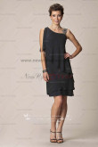 Informal black Glamorous lovely Cheap chiffon mother's dress cms-042