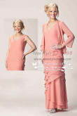 Spring Mother of the bride set Tiered dress withe jacket cms-089