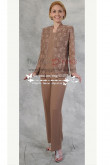 Brown three piece pantsuit for mother nmo-240