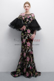 Charming Embroidery Prom dresses With Trumpet sleeve NP-0382