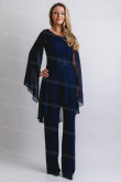 Glamorous Mother of the bride jumpsuit Dark navy Trousers suits nmo-683