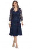 Dark Navy Modern Knee-Length Mother of the Bride Dresses nmo-332