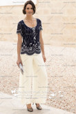 Delicate Chiffon with Beading Two piece mother of the bride pants suits nmo-004