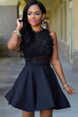 Dressy Dark Navy Informal Homecoming dresses nmo-344
