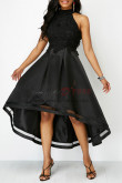 Elegant High-low Asymmetry Black Party Dresses nmo-337