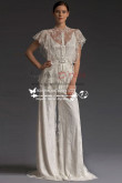 Elegant lace wedding pants dresses Floor-Length Spring wps-032