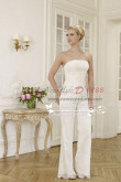 Elegant wedding pants suit lace dress with chiffon cloak wps-027