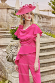 Fashion Women Trousers suit Special occasion wear Fuchsia nmo-686