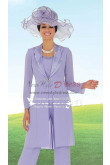 Classic Mother of the bride pant suit Formal Lilac chiffon outfit dress nmo-242