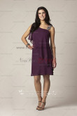 grape Knee-Length Glamorous chiffon mother's dress for the beach wedding cms-041
