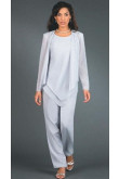 Hand Beading Elegant Elastic pants Mother of the bride pants suit nmo-105