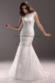 lace Glamorous Appliques Sweep Train Mermaid cheap wedding dresses nw-0184