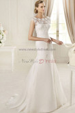 lace Jewel Mermaid Elegant Sweep Train Sheath Ivory wedding dresses under 200 nw-0150