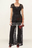 Modern sexy black Prom Jumpsuit dress with lace nmo-228