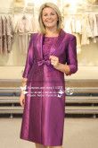 Long Sleeves Elegant lace two pieces mother of the bride dress with jacket for the wedding cms-070