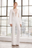 Modern Bridal Jumpsuits Wedding Cape dresses wps-149