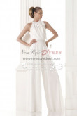 Modern bridal Wedding dresses pantsuits white chiffon jumpsuit wps-077