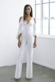 Modern Deep V-Neck Wedding Jumpsuits dresses wps-151