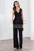 Modern Simple sexy black Prom Jumpsuit dress nmo-225