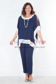 Mother of the bride pant suits New arrival Trousers set Dark navy nmo-386