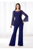 Royal blue  Mother of the bride Trousers suit Women's pant suits dresses nmo-532
