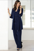 2019 Fashion Dark Navy Mother of the bride pant suits Custom-made nmo-461