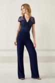 Navy Women Jumpsuit Wedding party wear nmo-520