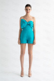 Ocean Blue Strapless mini pant with Bow wps-203-1