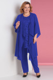 Plus Size 3PC Mother of the Bride Pant Suits Royal Blue nmo-716-3