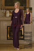 Purple Lace Mother of the bridal/groom pant suits dresses nmo-425
