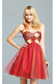 Sweetheart Hand beading Tulle Waist With a bow Homecoming Dresses nm-0201