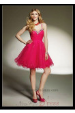 Sweetheart Sequins Above Knee Crystal Beads homecoming Dresses nm-0273