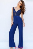 Rolay blue prom jumpsuit dresses with hand beading wps-173