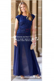 Royal Blue lace in fashion chiffon pant suits for mother of the bride trousers outfits nmo-211