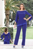 Royal blue Mother of the bride pantsuits dresses Two piece Women pants outfits nmo-507