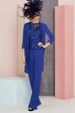 Royal blue Sequins Mother of the bride Trouser suit Wedding pantsuit dresses nmo-553