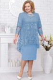 Sky blue Mother of the bride dress Plus size women's outfits nmo-583