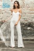Spaghetti Dressy Wedding Jumpsuit bride dresses wps-104