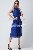 Spring Royal blue Lace Women's Prom Jumpsuit wide legs nmo-236
