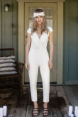 Summer Bridal Jumpsuit Little White Dresses wps-161