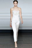 Wedding jumpsuit with delicate hand beading wps-088