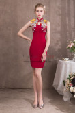 Women Chinese Style Red Knee-Length Sheath Prom dresses NP-0423