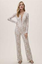 bc0f762e73eb Deep V-Neck Lace Bridal Jumpsuits Wedding Pantsuit dresses wps-169