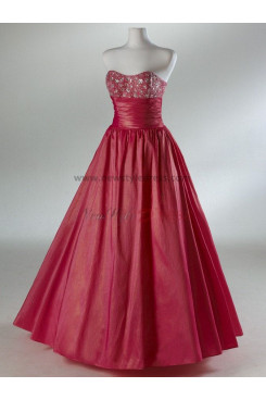 2014 Hot Sale Chest With Crystal Satin Watermelon Red and Army Green Quinceanera Dresses np-0086